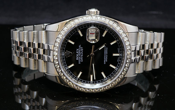 ROLEX Datejust 2010, 116244, Diamond Bezel, B & P