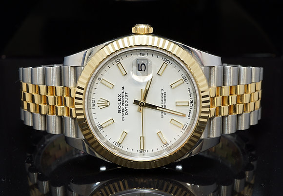 ROLEX 2017 Datejust 41, Steel & Gold, 126333, Box & Papers