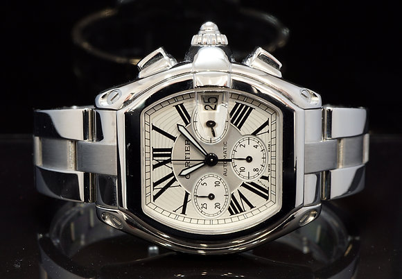 CARTIER Roadster Chronograph, 2618, W62019X6, Steel