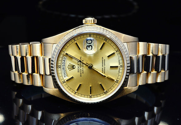 ROLEX 1979, 18ct Yellow Gold Day Date, 18038, MINT, Boxed