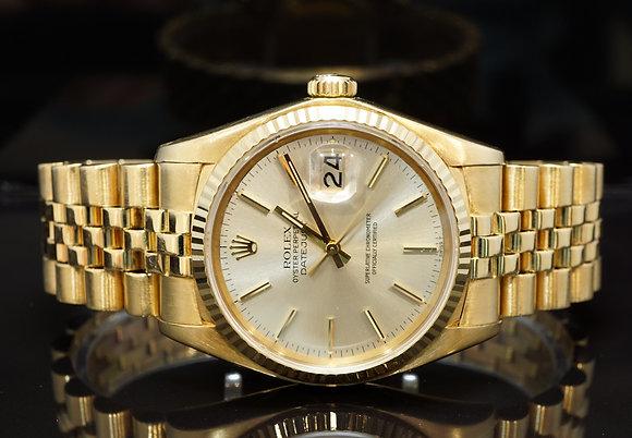 ROLEX 1978 Datejust 36, 18ct Yellow Gold, 16018, Jubilee Bracelet