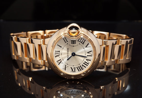 CARTIER 2011 Ballon Bleu 28mm, 18ct Rose Gold, W69002Z2, 3007, Box & Papers