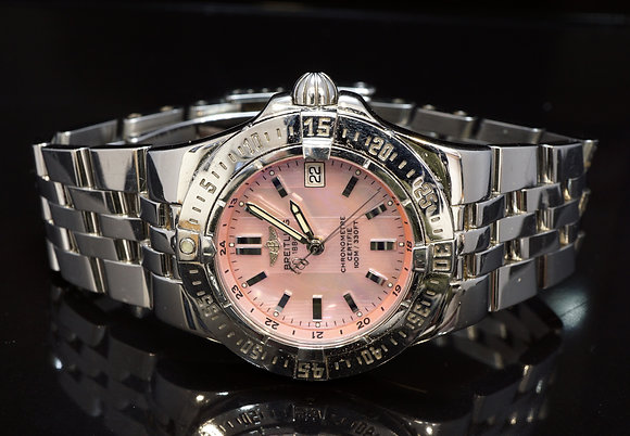 BREITLING 2006 Starliner, A71340, Pink MOP, Box & Papers