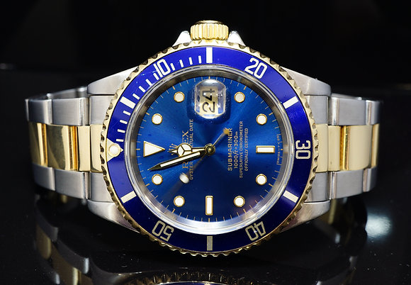 ROLEX 1996 Submariner, Steel & Gold, 16613, Boxed