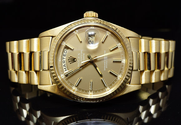 ROLEX 1977 18ct Yellow Gold DayDate, 1803, Box & Papers