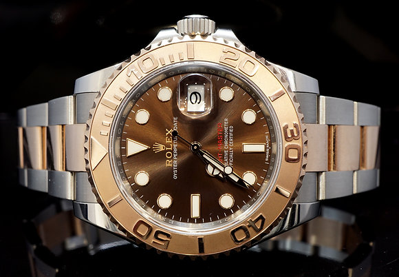 ROLEX 2017 40mm Yacht-Master, Steel & Rose Gold, 116621, MINT, Box & Papers