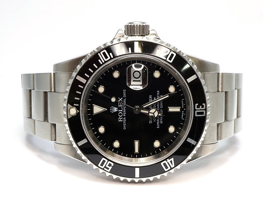 ROLEX 2005 Submariner Date, 16610, Steel, Box & Papers