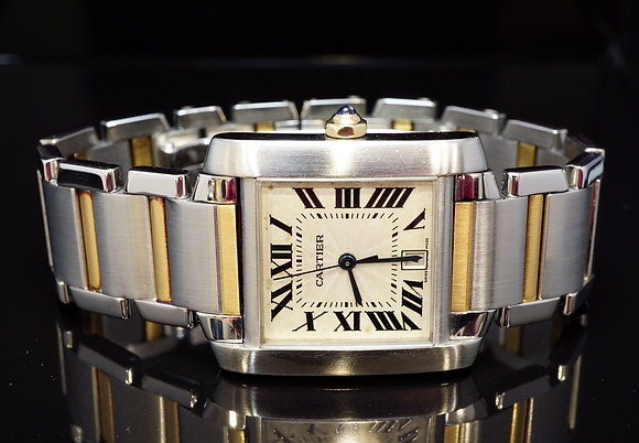 CARTIER Tank Francaise, Automatic, 2302, Steel & Gold