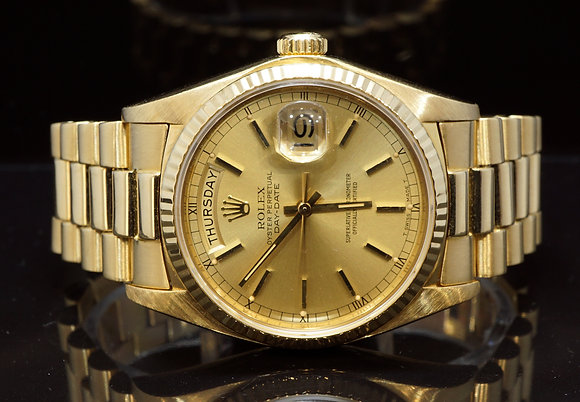 ROLEX 1979 36mm Day-Date. 18ct Yellow Gold, 18038, MINT, Boxed