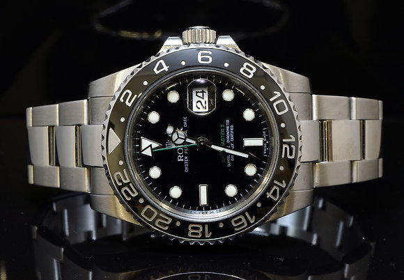 ROLEX 2009 GMT Master 2, Steel,116710LN, MINT, box & Papes