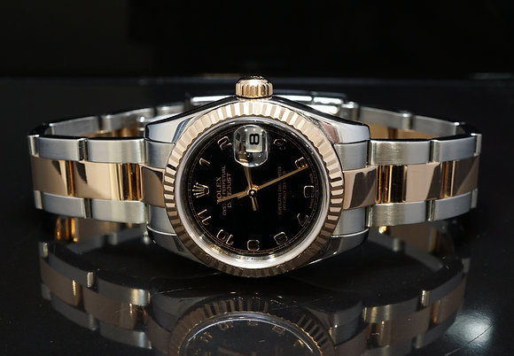 ROLEX 2009 Datejust 26, Steel & Rose Gold, 179171, Box & Papers