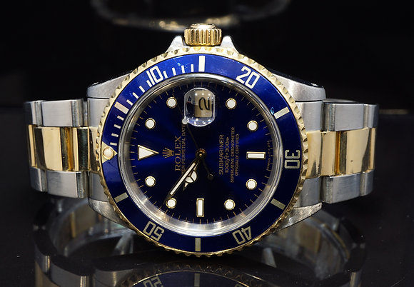 ROLEX 1991 Submariner, Steel & Gold, 16613, Boxed
