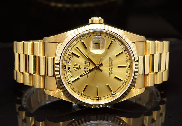 ROLEX 1999 Day-Date 36, 18238, As new Condition, Box & Papers