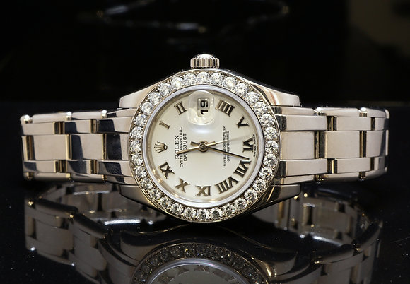 ROLEX 18ct White Gold Pearlmaster, 2005, Box & papers, MINT