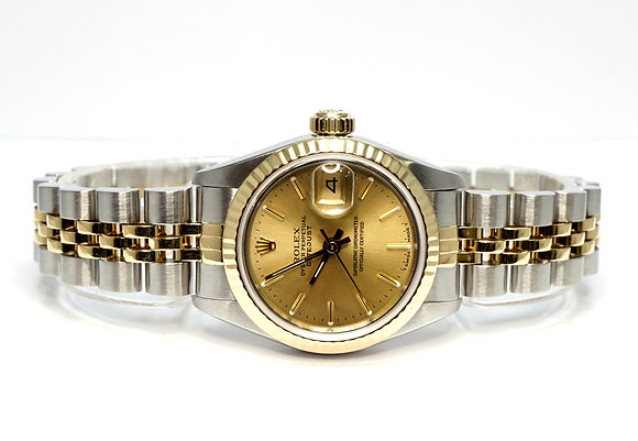 ROLEX 1988 Datejust 26, 69173, Steel & Gold, Box & Papers