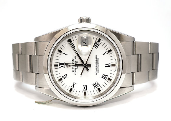 ROLEX 2003 Oyster Perpetual Date 34, 15200, Steel, Box & Papers