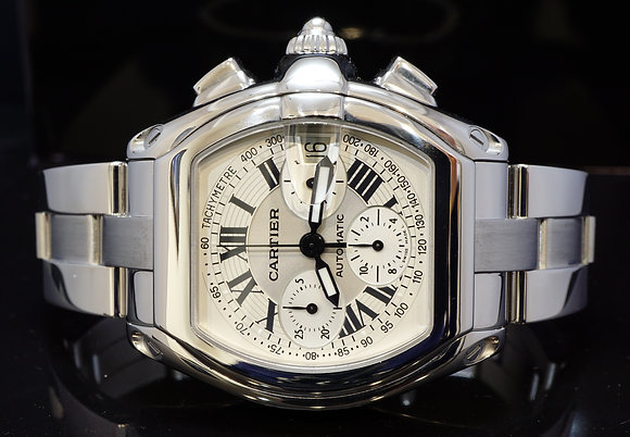 CARTIER Roadster Chronograph XL, W62019X6, Box & Papers