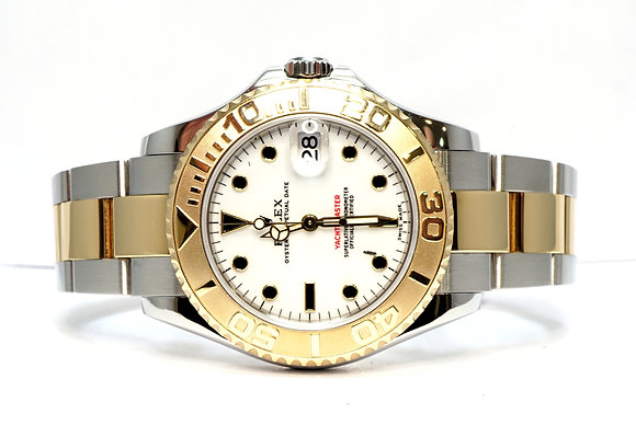 ROLEX 2003 Yacht-Master 35, 168623, Steel & Gold, White Dial, Box & Papers