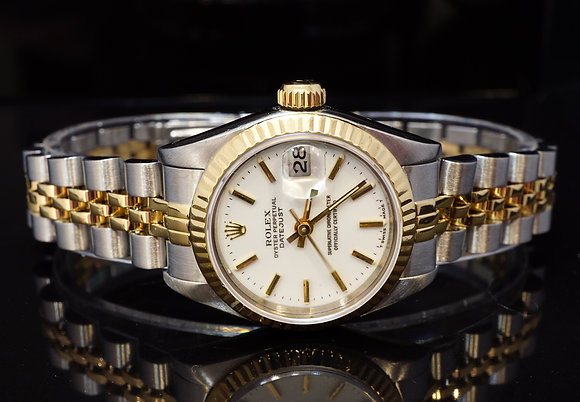 ROLEX 1988 26mm Datejust, Steel & Gold, 69173, Box & Papers