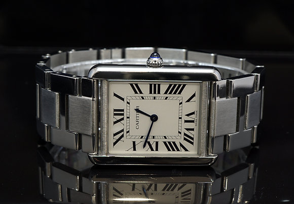 CARTIER 2018 Tank Solo, W5200014, Quartz, Stainless Steel, with Papers
