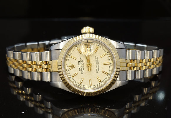 ROLEX 1989 26mm Datejust, Steel & Gold, 69173, Boxed
