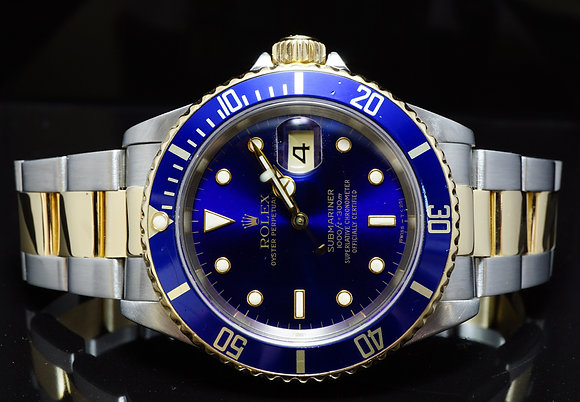 ROLEX 1996 Submariner Date, Steel & Gold, 16613, MINT, Boxed