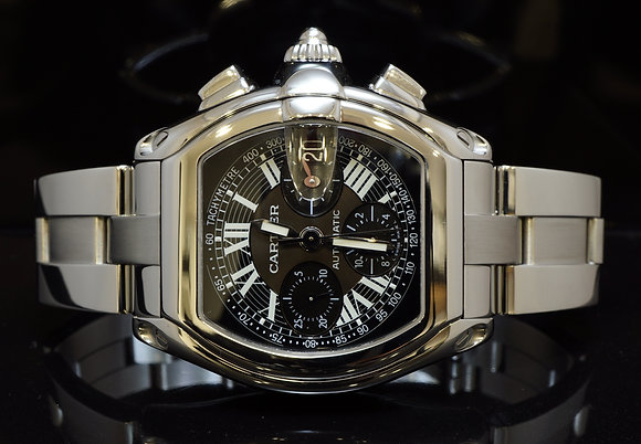CARTIER 2003 Roadster Chronograph, W62007X6, MINT, Box & Papers
