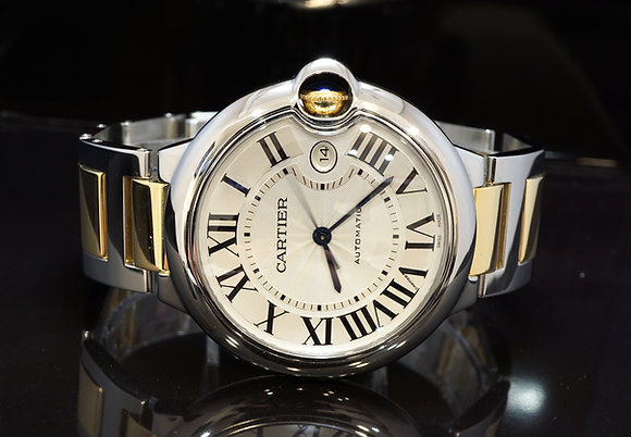 CARTIER 2017 Ballom Bleu 42mm, Steel & Gold, W2BB0022, MINT, with Papers