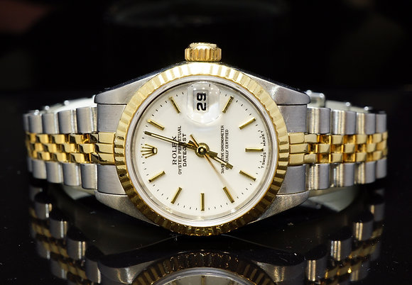 ROLEX 1985 26mm Datejust, Steel & Gold, 69173, Boxed