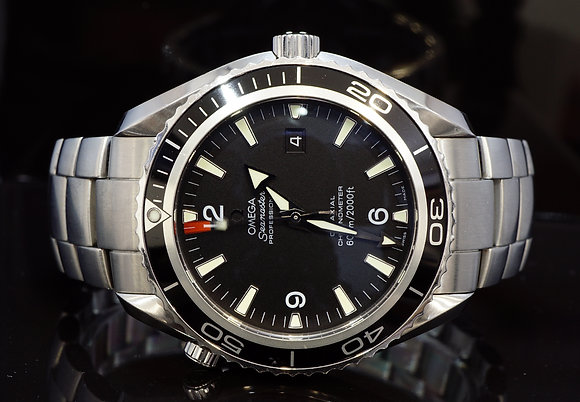 OMEGA 2011 45.5mm Planet Oceam, 2200500, Steel, Box & Papers