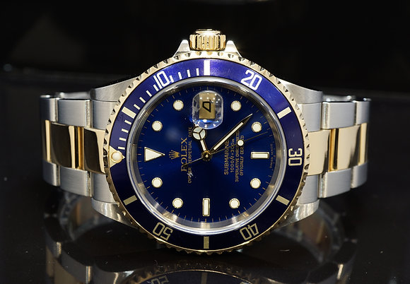 ROLEX 2005 Submariner, Steel & Gold, 16613, Box & Papers