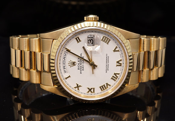 ROLEX 1995 Day-Date 36, 18ct Yellow Gold, 18238, Boxed