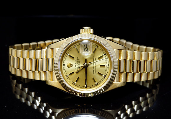 ROLEX 1986 26mm Datejust, 18ct Yellow Gold, 69178, MINT, Boxed