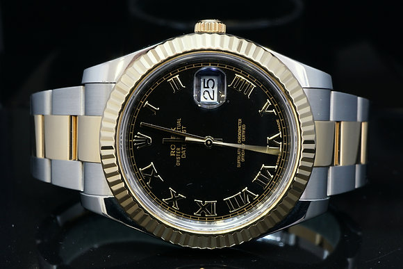 Rolex 2013 41mm Datejust 2, Steel & Gold, 116333, MINT, Box & Papers