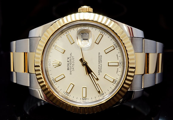 ROLEX 2011+ 41mm Datejust 2, Steel & Gold, 116333, MINT, Boxed