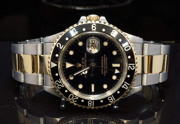 ROLEX 1989 GMT Master II, Steel & Gold, 16713, Oyster, Boxed