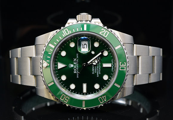 "ROLEX 2014 Green ""HULK"" Submariner, 116610LV, MINT, Box & Papers"