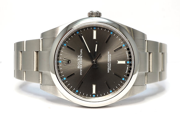 ROLEX 2019 Oyster Perpetual 39, 114300, Rhodium Dial, Partially Stickered, B&P