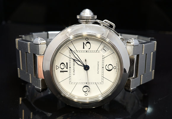 CARTIER 2014 Pasha C, Steel, Auto, 2324, W31015M7, Box & Papers, Just serviced