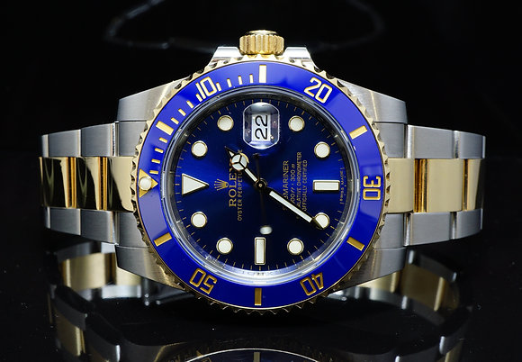 ROLEX 2014 Submariner, Steel & Gold, 116613LB, MINT, Box & Papers
