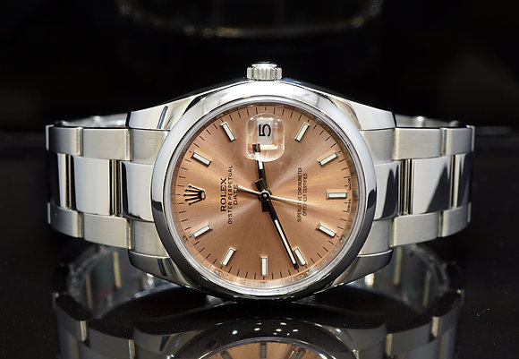 ROLEX 2016 Date 34, 115200, Steel, Pink Baton, Box & Papers