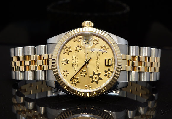 ROLEX 2012 Datejust 31mm, Steel & Gold, 178273, Box & Papers