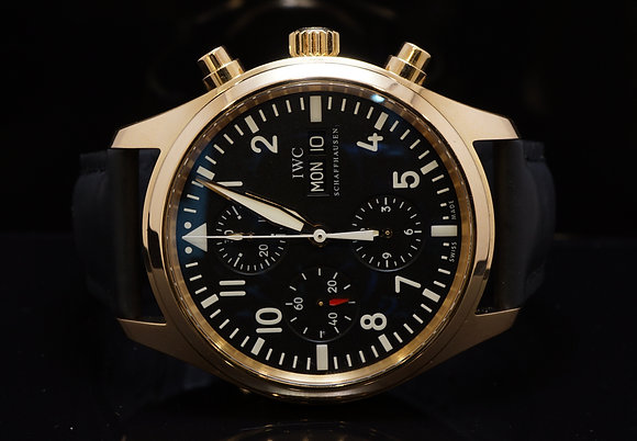 IWC  2010 18ct Rose Gold Spitfire Pilot Auto, MINT, IW371713, Box & Papers