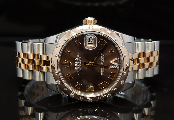 ROLES 2014 Datejust 31, Steel & Rose Gold, 178341, Diamond Dial, Box & Papers