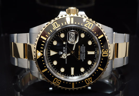 ROLEX 2019 Sea-Dweller, SD43, Steel & Gold, 126603, Box & Papers