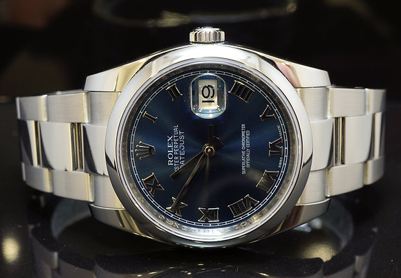 ROLEX 2013 36mm Datejust, Steel, 116200, Box & Papers