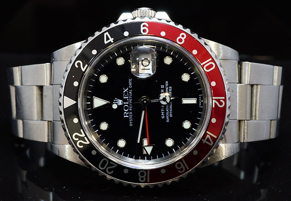 "ROLEX 1998 GMT Master 2, ""Coke"", Steel, 16710, Unpolished, Box & Papers"