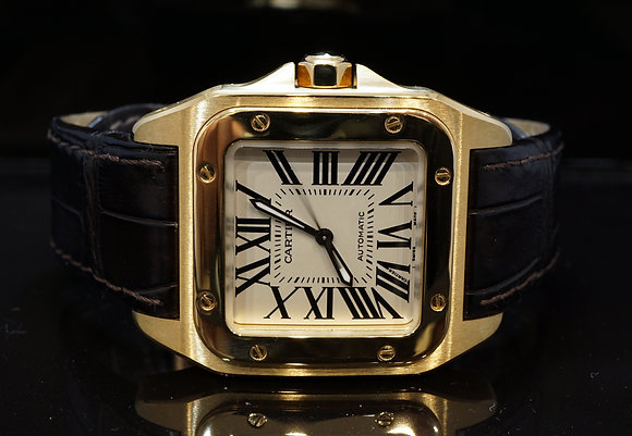 CARTIER Santos 100, 18ct Yellow Gold, 2880, W20112Y1