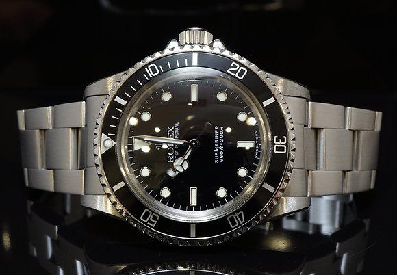 ROLEX 1989 Submariner Non Date, 5513, Rolex Service 31/1/17, Mint, Boxed