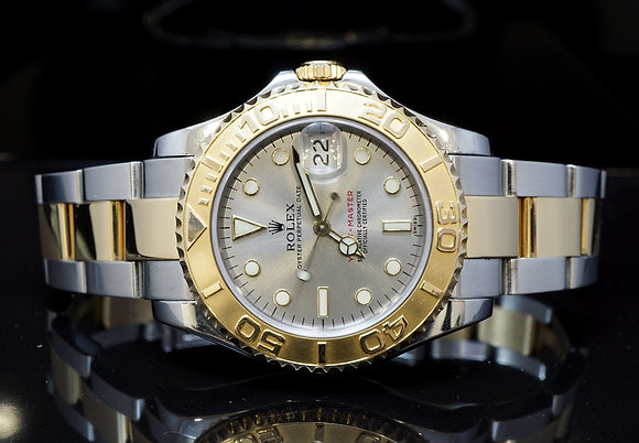 ROLEX 1998 35mm Yachtmaster, MId Size, Steel & Gold, 68623, MINT, Boxed